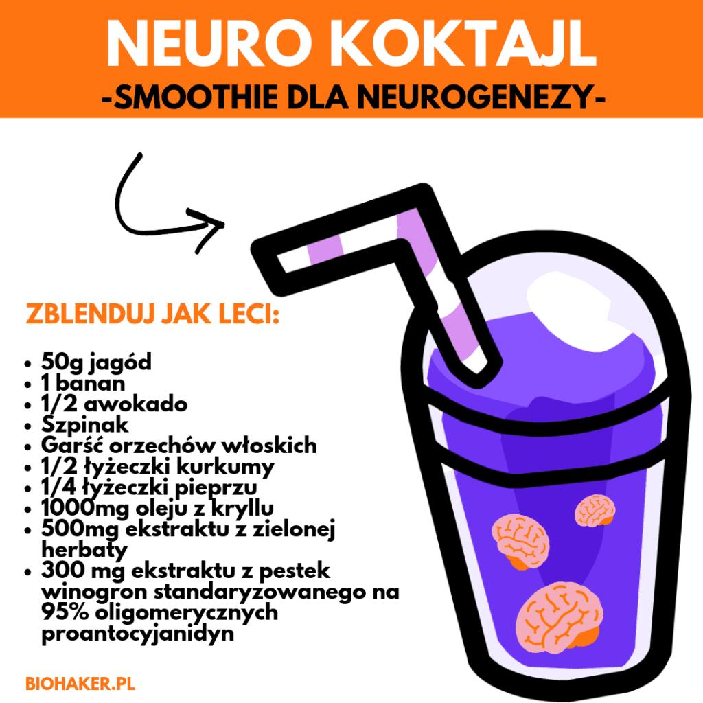 neuro koktajl na neurogenezę zielony szejk na mózg