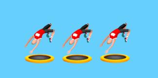 Mini trampolina trening