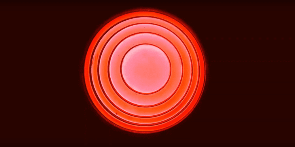 luminous red lampa